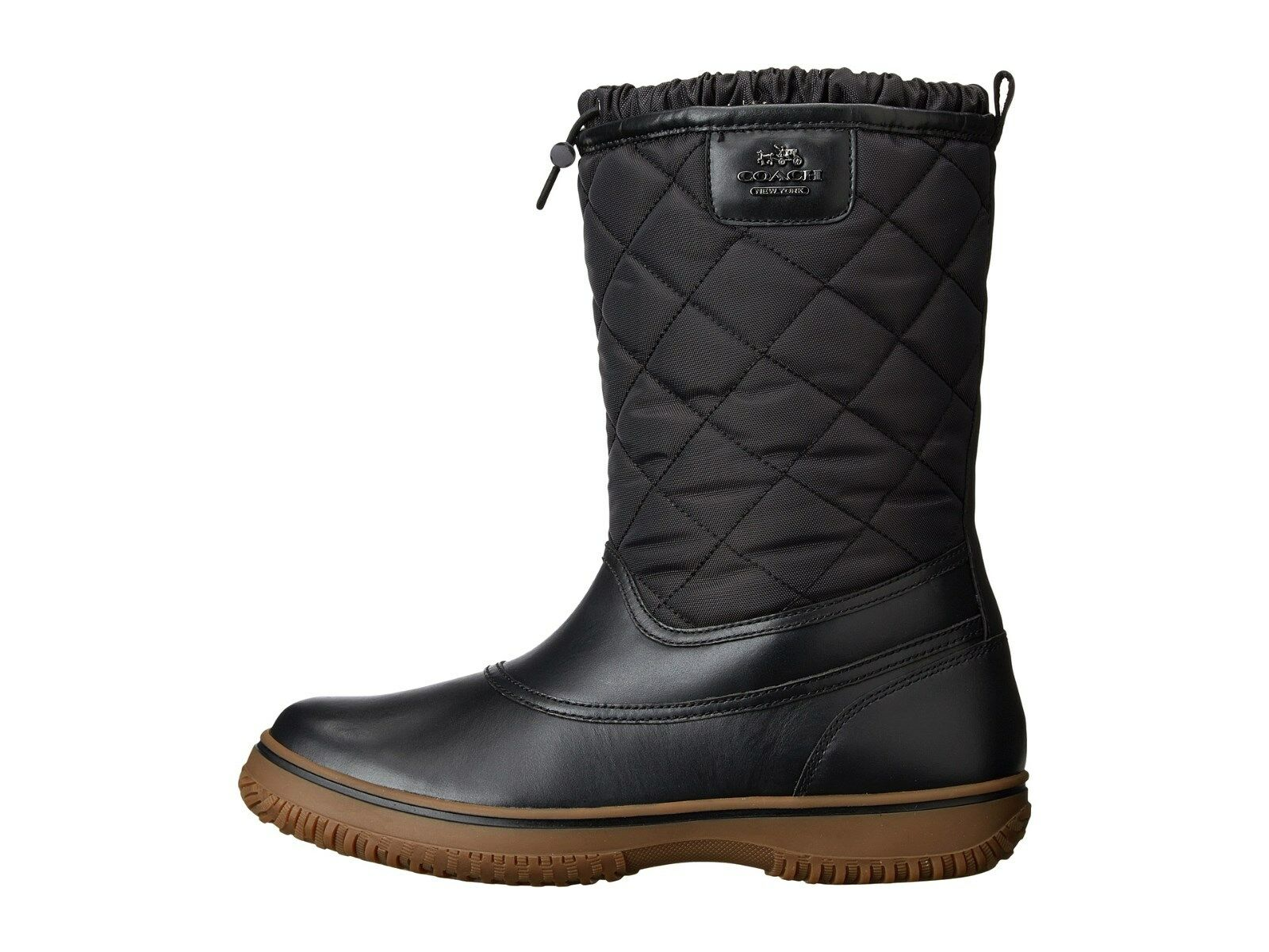 Coach Leather Snow Boots bzKVcF