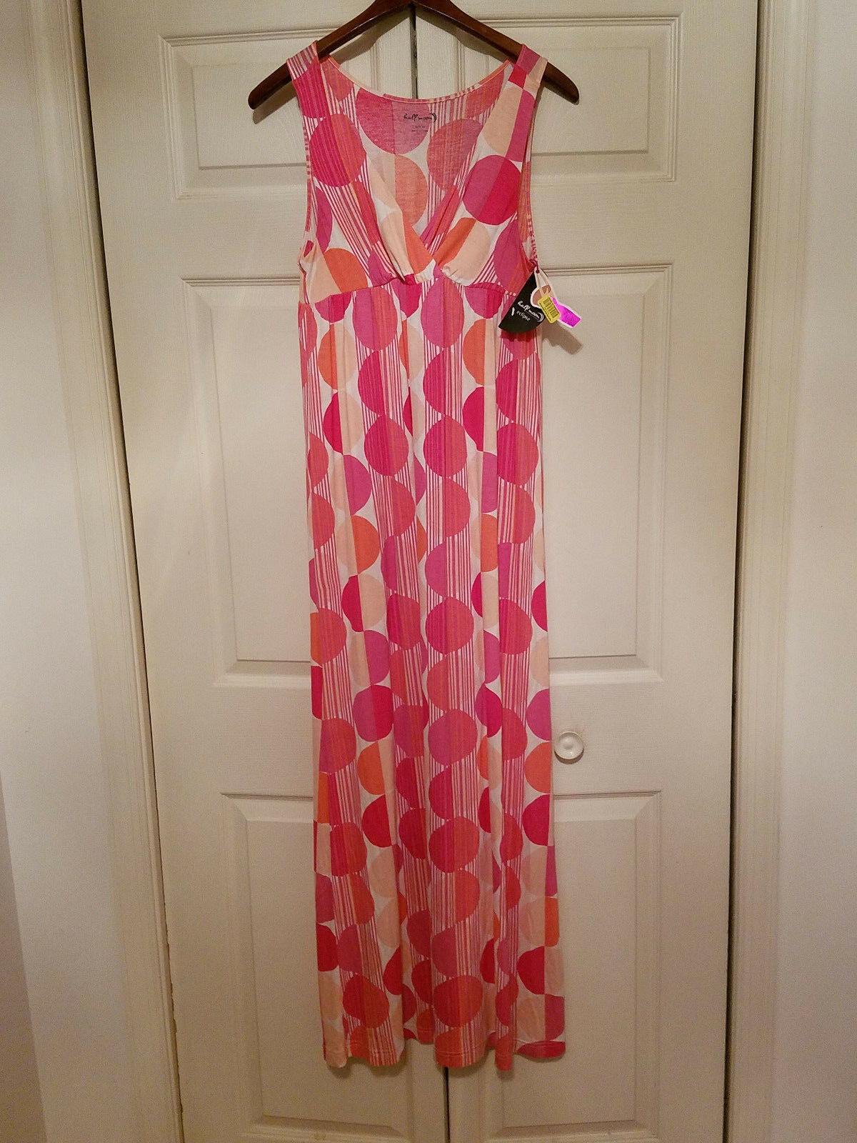 Half Moon Modern Movement Maxi Patio Dress M Long Sundress