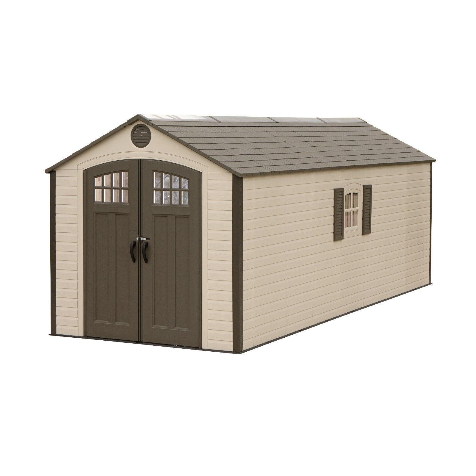 lifetime buildings 20x8 dual entry outdoor storage shed kit w 2