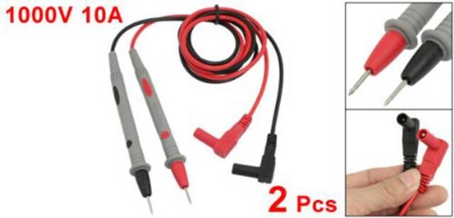 2 Pcs Universal Probe Test Leads Cable For Digital Multimeter Meter 1000V 1 O9O7