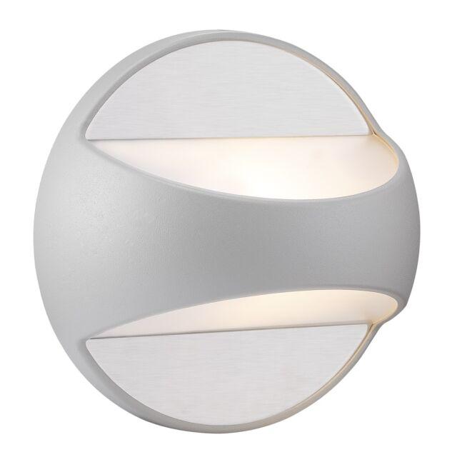 Designer Aussenwandleuchte Twin Nordlux Wandleucte grau E27 IP44 Metall Ø21cm