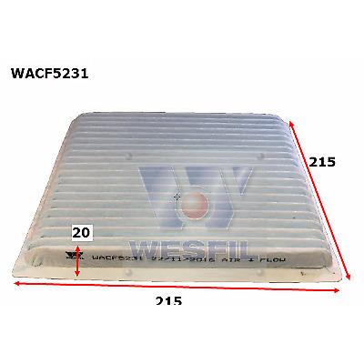 WESFIL CABIN AIR FILTER LANDCRUISER TRIBECA OUTBACK TARAGO LIBERTY WACF5231