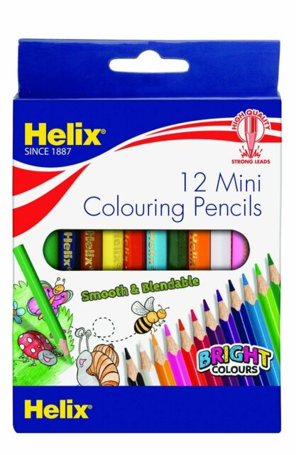 Helix Mini Colouring Pencils Pack of 12
