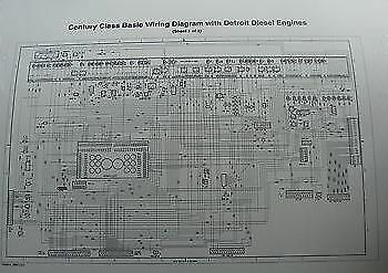 2000 up freightliner century columbia wiring diagram schematic w rh ebay com 1999 Freightliner Wiring Diagram 2007 Freightliner M2 Wiring-Diagram