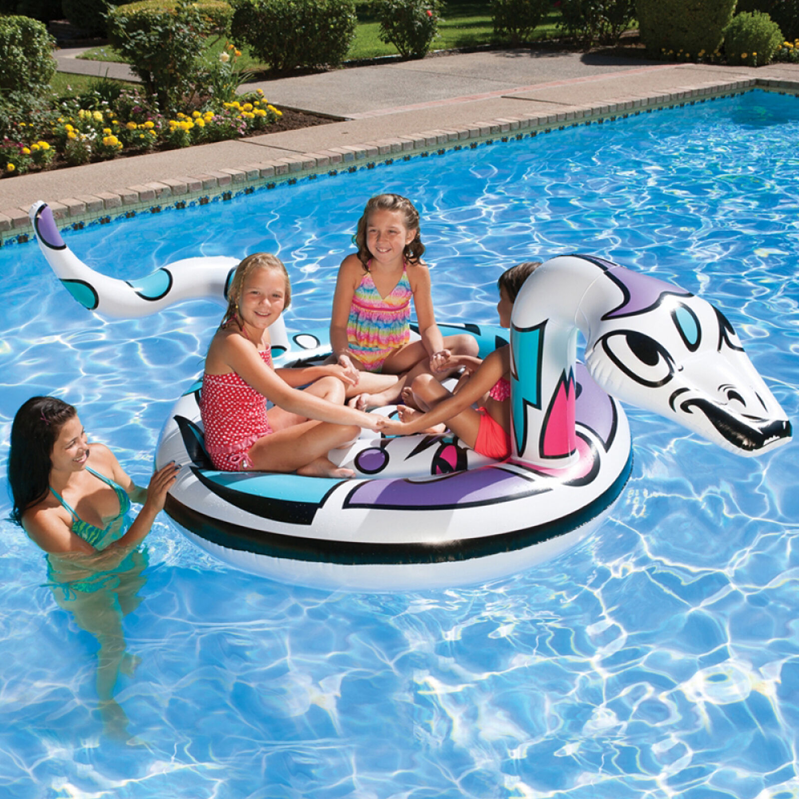 Poolmaster Inflatable Snake Island Pool Float Lounge
