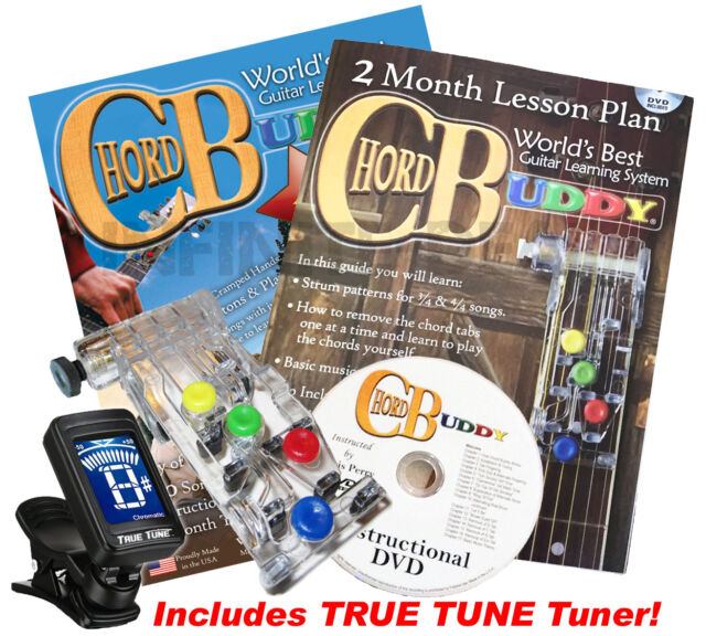Chord Buddy Guitar Learning Teaching System Practrice DVD Book Tuner ...