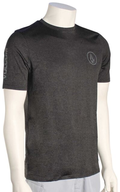 Volcom Lido Heather SS Surf Shirt - Charcoal Heather - New