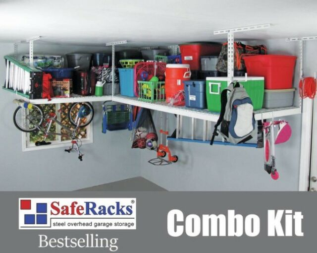NEW SafeRacks Overhead Garage Storage Combo Kit - Two 4u0027x8u0027 Racks 18pc & SafeRacks Overhead Garage Storage Combo Kit Two 4u0027x8u0027 Racks 18pc ...