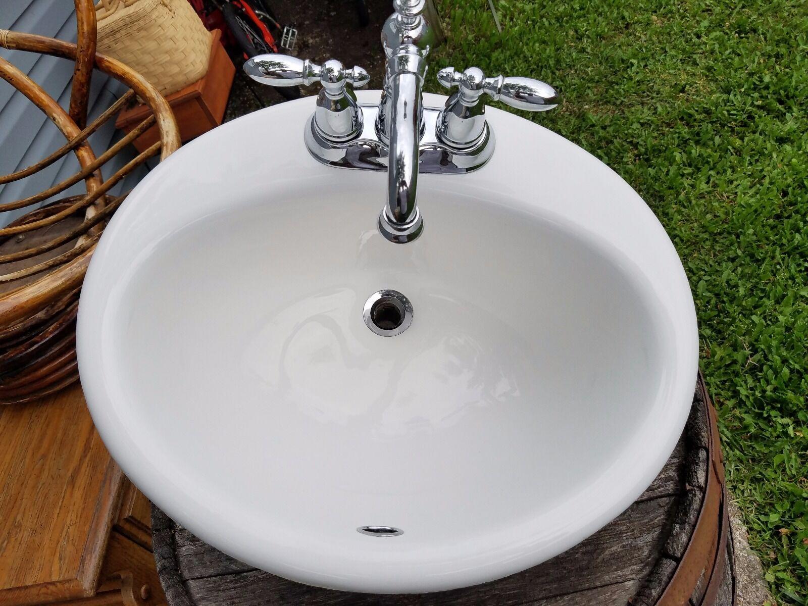 Kohler Drop in Cast Iron Sink 2904 Bathroom Oval Bath White