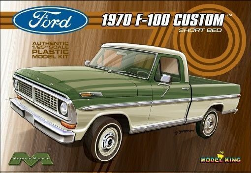 Model King Kits 1228 1 25 Moebius 1970 Ford F 100 Custom Shortbed Pickup Truck M