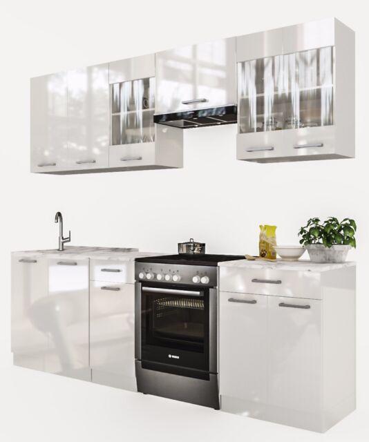 ELDORADO Martha 240 Cm Küchenzeile - Weißlack | eBay