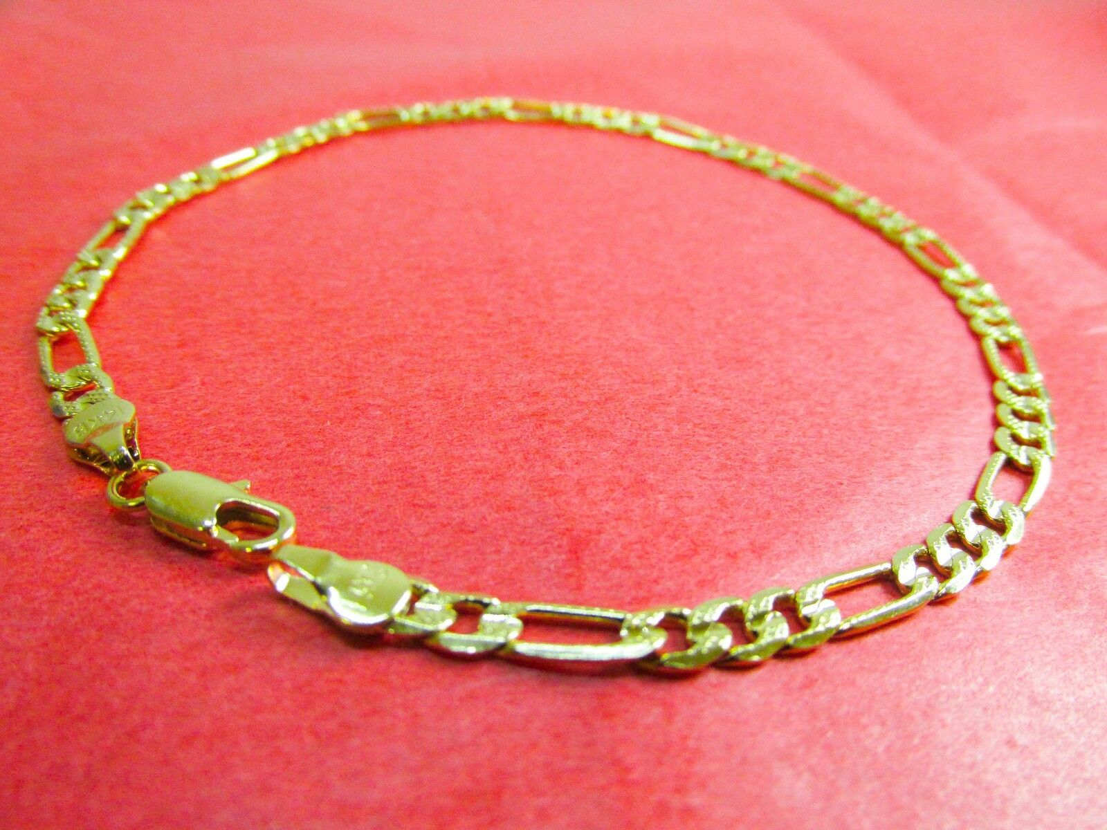 tone gold heart detail two jewelry anklet products cfm puffed in ankle palmbeach bracelet diamond at
