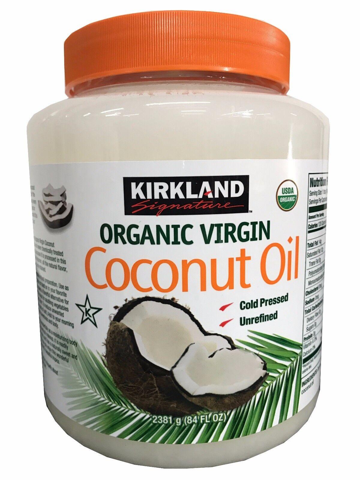 Kirkland signature cold pressed unrefined organic virgin coconut oil resntentobalflowflowcomponentncel nvjuhfo Images