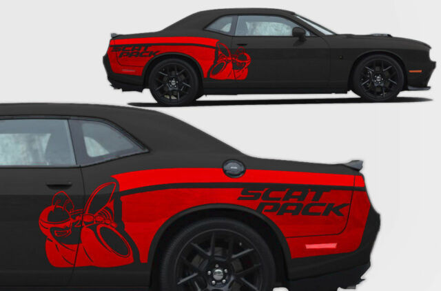 Custom Vinyl Decal Rear Side SCAT Pack Wrap For Dodge Challenger - Custom vinyl decals las vegas