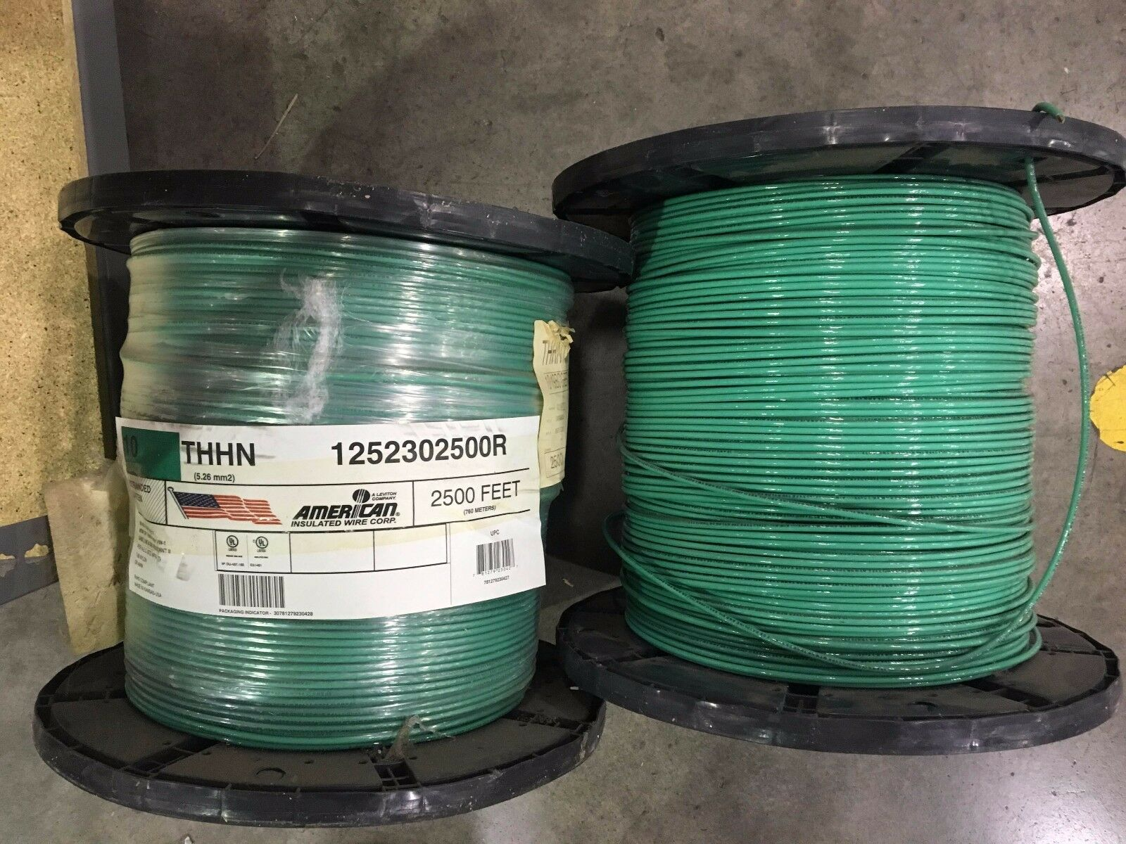 10 Foot Ft 10awg Thhn Green Ul Listed Stranded Copper 600v Wire Electrical Cable Gauge 14 2 Romex Simpull Picture 1 Of 3