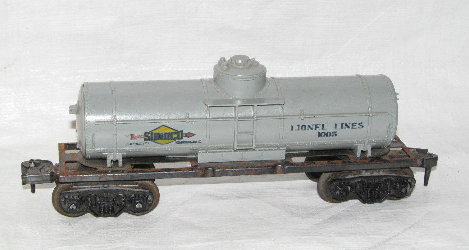 Vintage Lionel Lines O Train Sunoco Single Dome Tank Car 1005