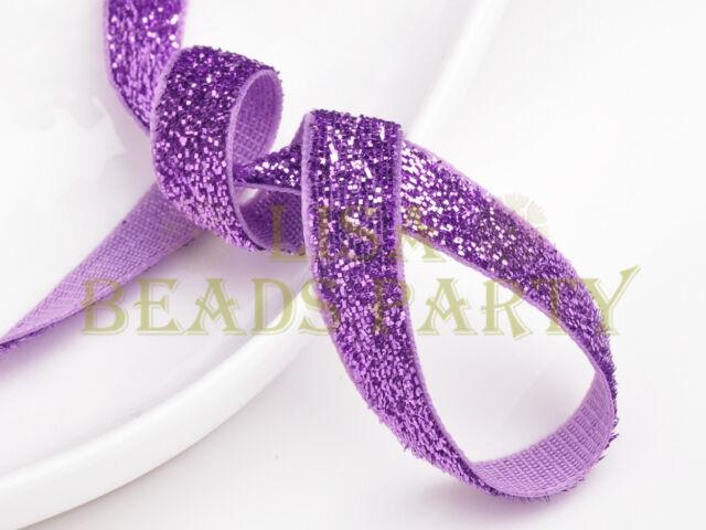 "10yards 3/8"" 10mm Bling Ribbon Bows Wedding Party Decoration Sew Light Purple"