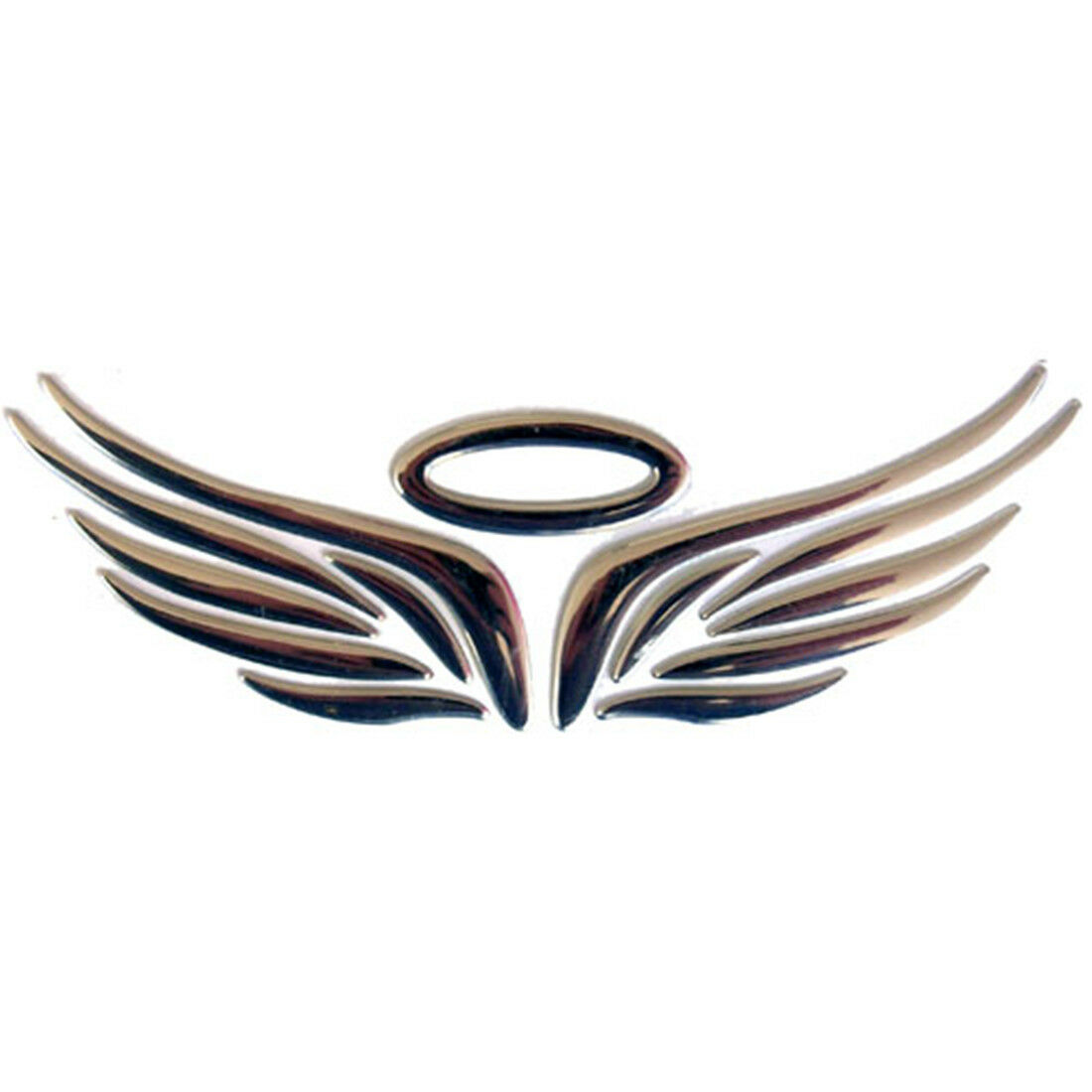 Car suv pickup body logos sticker silver 3d guardian angel wings 5 biocorpaavc Choice Image