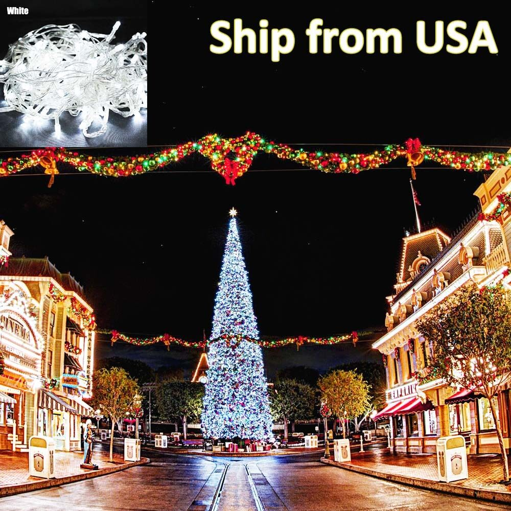 10m 100 LED Christmas Tree Fairy String Party Lights Lamp ...