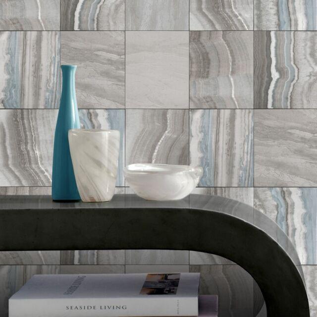 Rasch Mármol azulejo papel pintado piedra de Imitación efecto ...