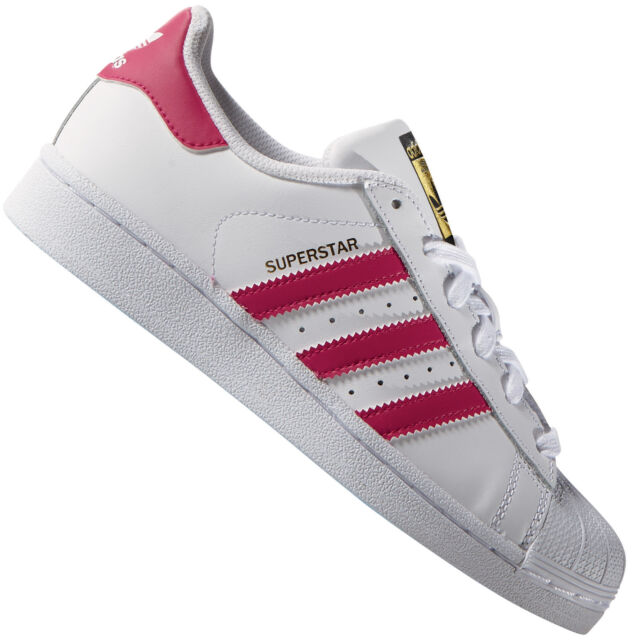 ADIDAS ORIGINALS SUPERSTAR FOUNDATION WHITE/Pink B23644 Women's Sneakers  Shoes; Picture 2 of 7; Picture 3 of 7; Picture 4 of 7. 4. Picture 2 of 7
