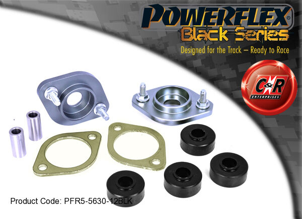 BMW Z4 Powerflex Black Rear Shock Top Mount Bracket+Bushes 12mm PFR5-5630-12BLK