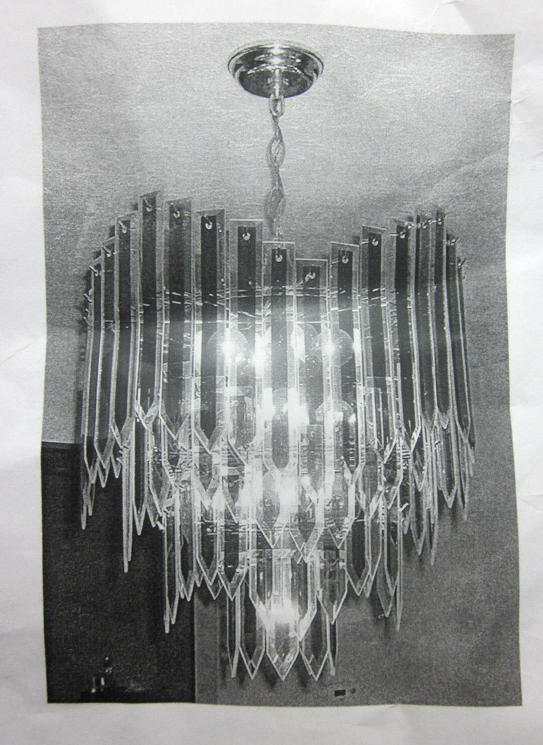 Triarch chandelier lamp beveled glass reflex panel repair part triarch chandelier lamp beveled glass reflex panel repair part flat spear tip 6 ebay arubaitofo Image collections