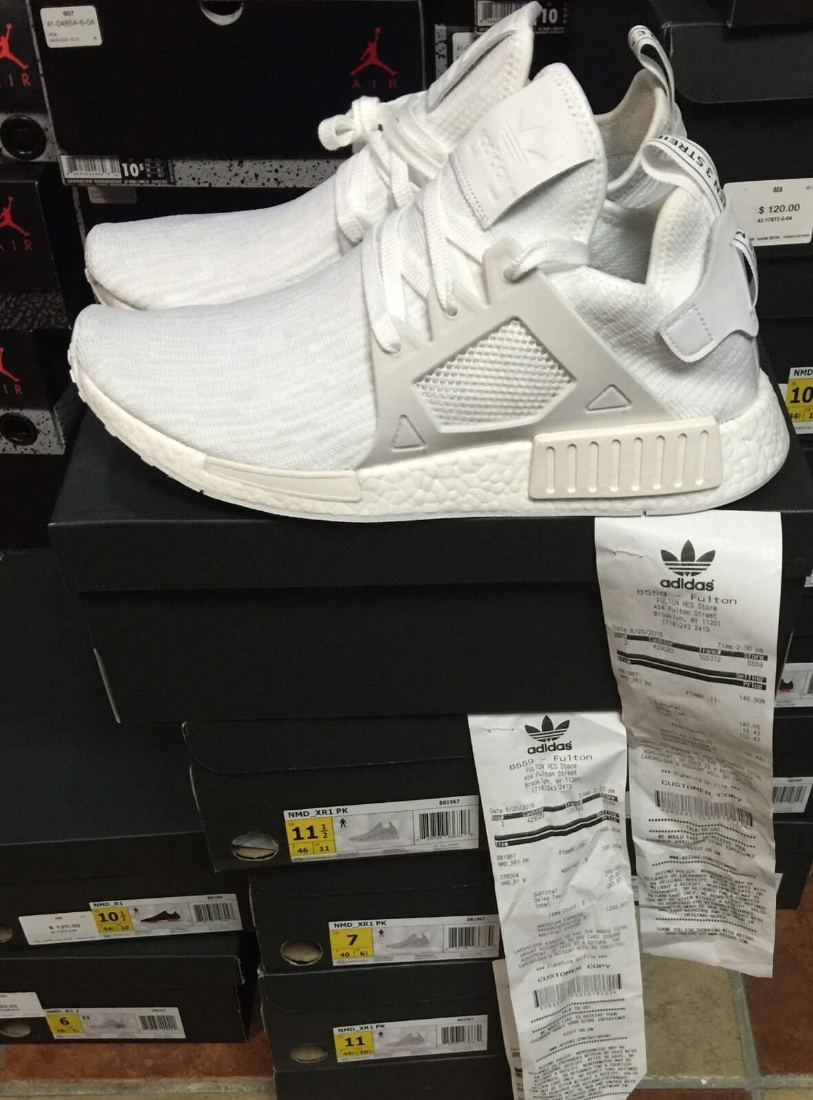 16e960341 Adidas NMD XR1 Triple White (On Feet) - YouTube. Picture 1 of 9 .