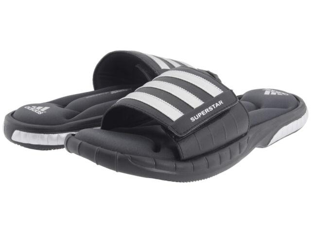 Superestrella De Adidas Hombres 3g Desliza Sandalias - Blanco / Negro wPcLUEN9VP