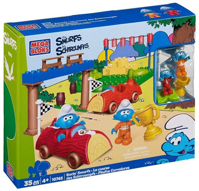 Mega Bloks 10745 The Smurfs Racin' Smurfs  NEW NEU