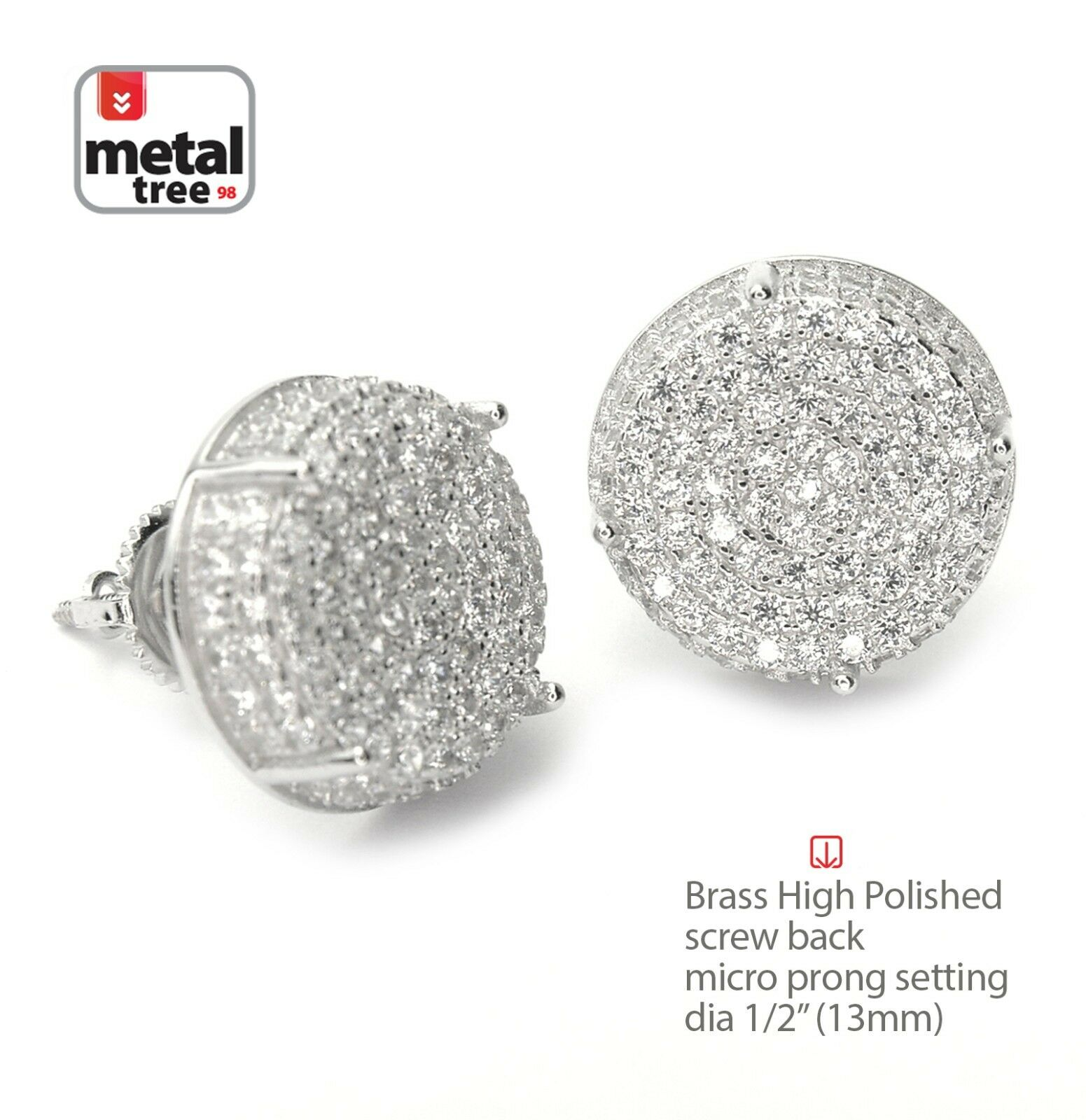 mens wh p earrings round carat diamonds w white gold diamond fashion ct stud