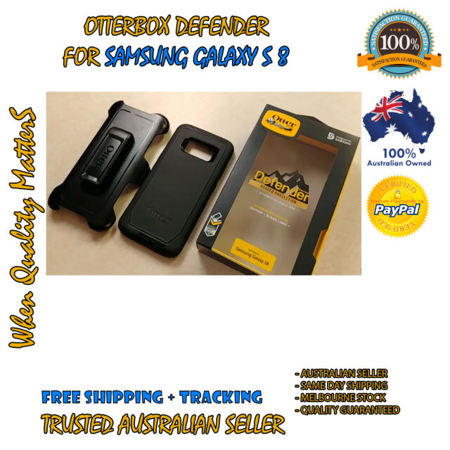 Galaxy S8 Genuine Case OtterBox Defender heavy duty Cover for Samsung Black Melb