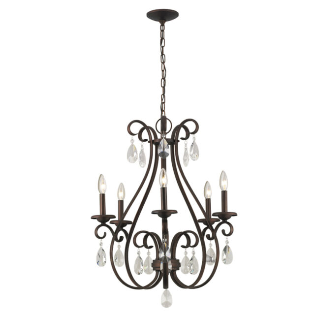Current Obsession Lantern Chandeliers: Chandelier 5 Light Crystal Candle 16 Inch Portfolio Roz
