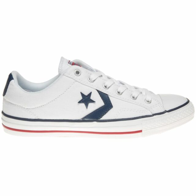 Converse Star Player Ox White Navy Womens - Mens Trainers - 144151C