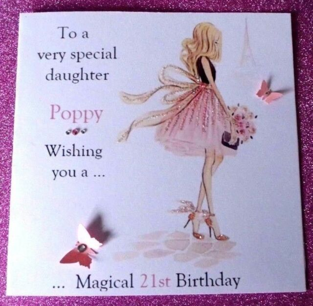 Personalised Handmade Birthday Card 18th 21st 40th Daughter Sister