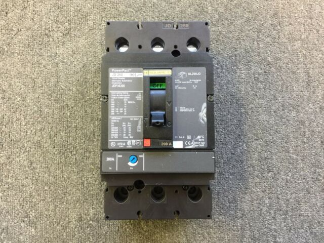 s l640 square d jdp36200 powerpact jd 250 circuit breaker 3 pole 200 amp  at readyjetset.co