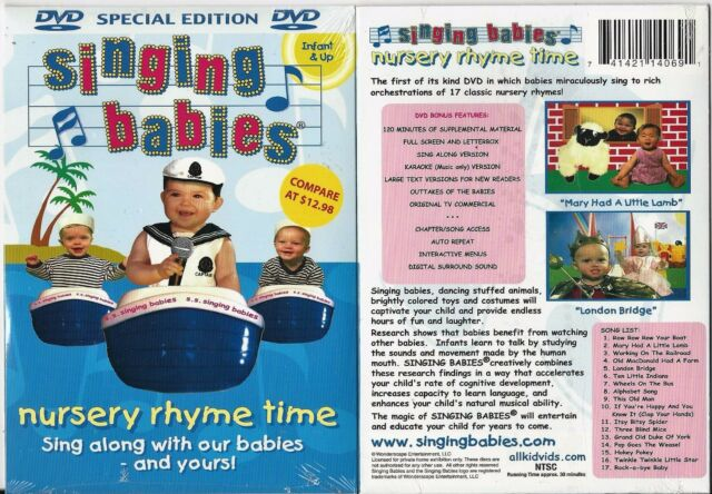 Singing Babies Nursery Rhyme Time Dvd Sing Along With Our