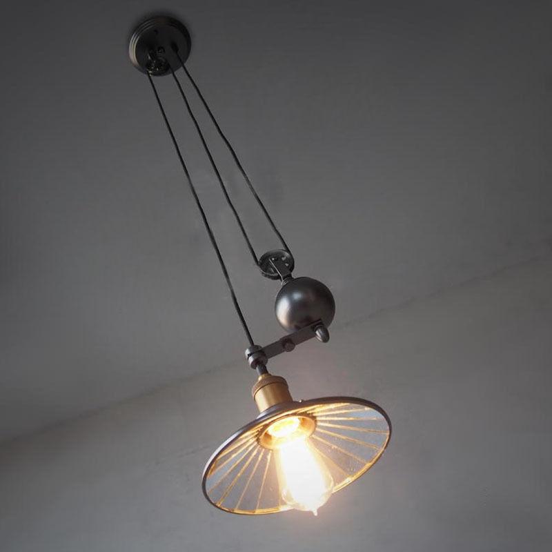 Industrial Retro Vintage Hanging Ceiling Light Pendant Retractable ...