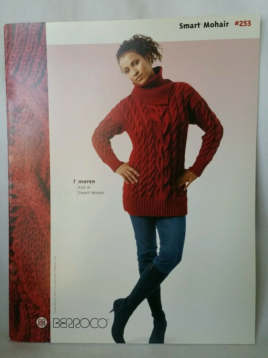 Berroco Knitting Pattern Book #253 Smart Mohair - 8 Designs for ...
