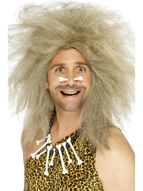 Crazy Caveman Wig Mens Blonde Messy Haired Fancy Dress Wig