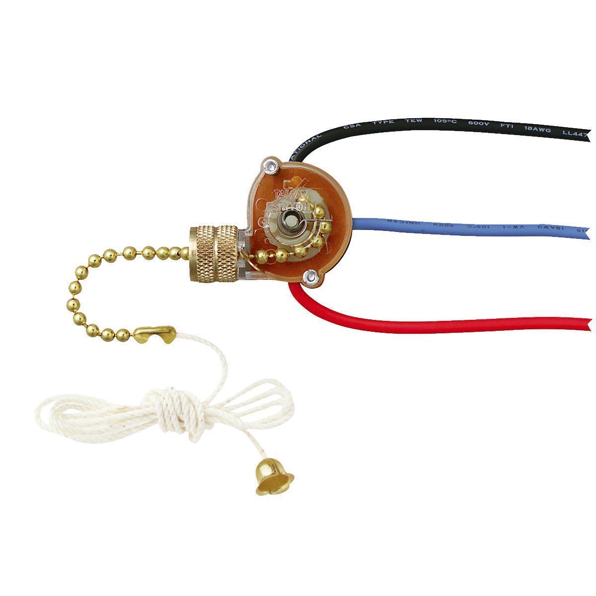 3 way 3 wire ceiling fan light switch by westinghouse 77052 ebay rh ebay com