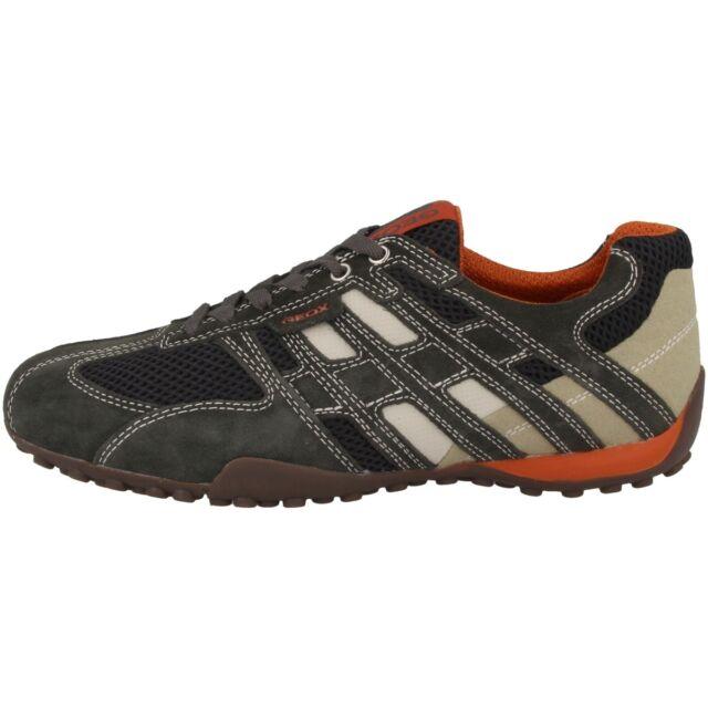 Geox U Wells C Scarpe Uomo Sneaker Pelle Tempo Libero Scarpe Basse BOX D SNAKE K