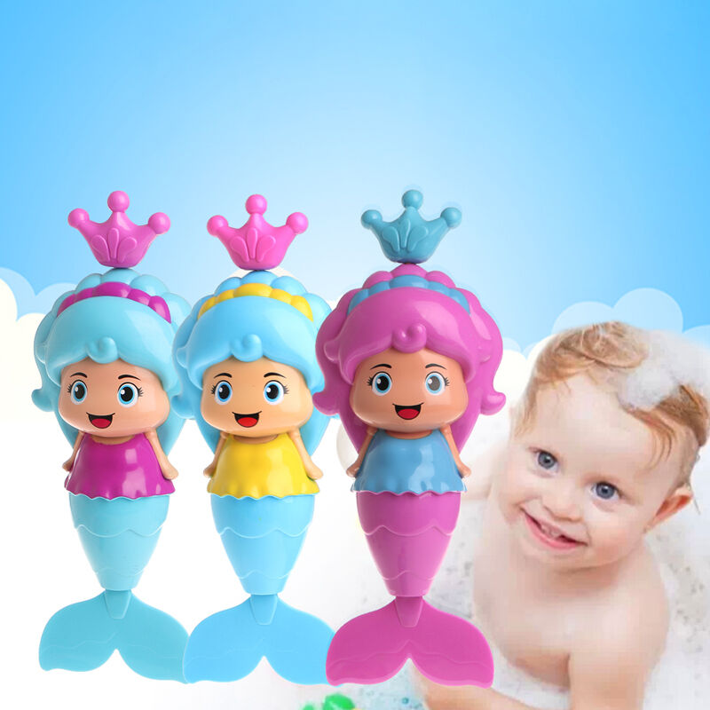 1pc Baby Kids Mermaid Clockwork Dabbling Bath Toy Swimming Water ...