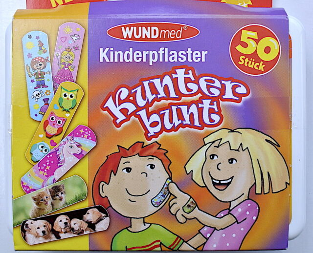 WUNDmed® Kinderpflaster Kunterbunt Box 50tlg.