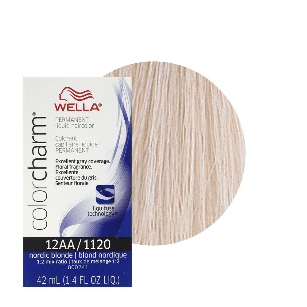 Item 4 Wella Color Charm Permament Liquid Hair 42ml Nordic Blonde 1120 12aa