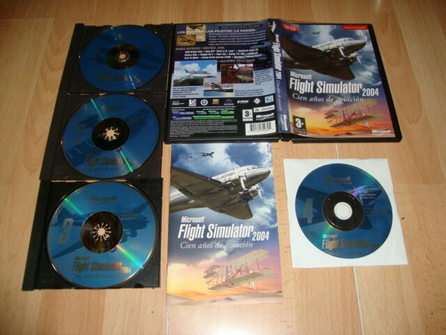 MICROSOFT FLIGHT SIMULATOR 2004 CIEN AÑOS DE AVIACION PARA PC USADO COMPLETO