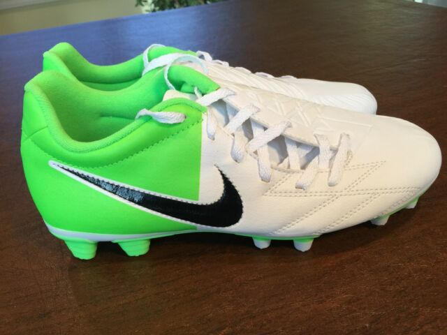 NEW Nike Total 90 T90 Shoot IV FG EURO 2012 Soccer Shoes White Neon Green  Size