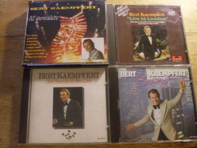 Bert Kaempfert [4 CD Alben] Live in London + Red Roses + 32 Wereldhits + Swing