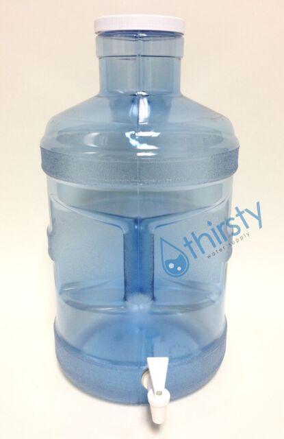 5 Gallon Water Bottle Big Cap Faucet Spigot Polycarbonate Plastic ...