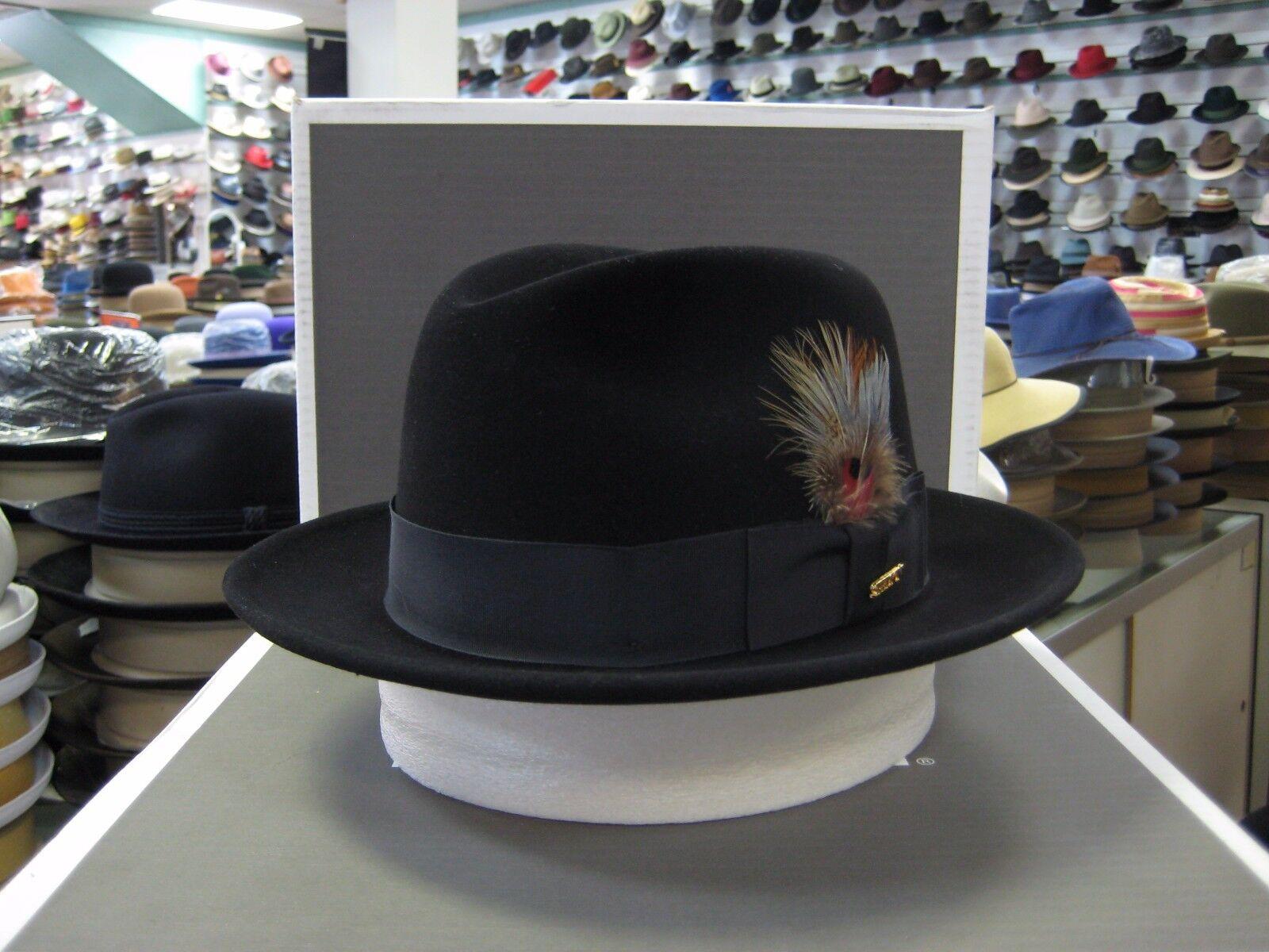 8c04f9a9838 Beaver Brand Hats Black 5X Genuine Fur Felt Cowboy Hat